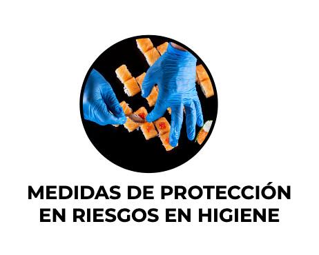 Medidas de protección en riesgos en higiene
