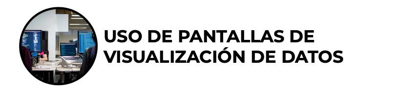 Uso de Pantallas de Visualización de Datos (PVDs)