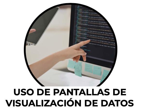 Uso de pantallas de visualización de datos